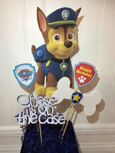 CHASE Paw Patrol centerpiece by myhusbandwearscamo on Etsy