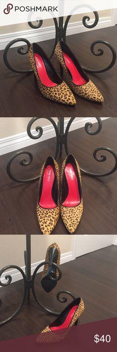 Shoes Worn only once. 3 1/2 inch Nine West Leopard pumps Nine West Shoes Heels