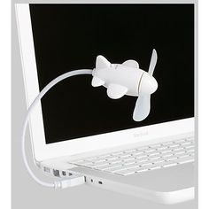Airplane USB Mini Fan by Kikkerland - $8 office desk connect chill heat cool design
