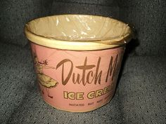 @ Kathy Kohler Vintage Half Gallon Ice Cream DUTCH MAID Kenosha Wisconsin