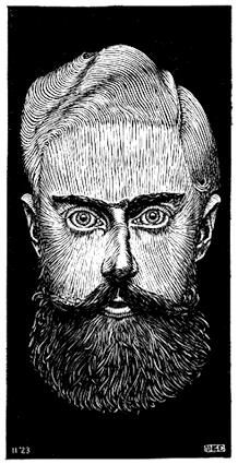 Self portrait - woodcut - 1922