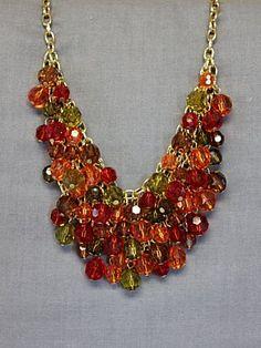 Festive Cluster Necklace