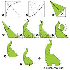 Image result for dinosaurio origami facil