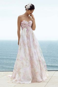 Really pretty wedding gown that can be found at David's Bridal.