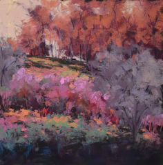 "Landscape Artists International: Original Pastel Colorado Landscape Painting ""Warming it Up"" by Western Colorado Artist Barbara Churchley"