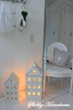 Metal House. White, Chippy, Shabby Chic, Whitewashed, Cottage, French Country, Rustic, Swedish decor Idea. ***Pinned by oldattic ***.