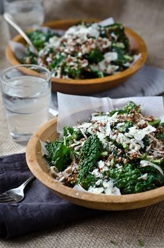 blissfulb - bliss blog - blissful eats with tina jeffers: Kale, quinoa and fennelsalad