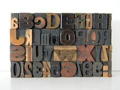 Vintage letterpress type