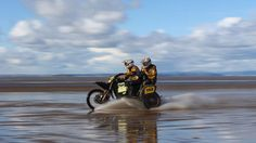 side_car_beach_water – – The Best of the Web on Two Wheels Motocross Racing, Quad Bike, Motorcycle Travel, Spring Is Coming, Sidecar, Cool Bikes, Offroad, Wheels, Beach