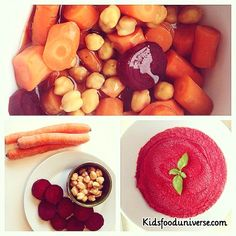 Chick pea beet root carrot