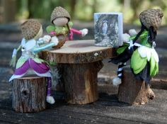 Miniature fairy furniture table and by CaseysCreativeCorner