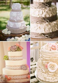 burlap and lace wedding ideas - Google Search