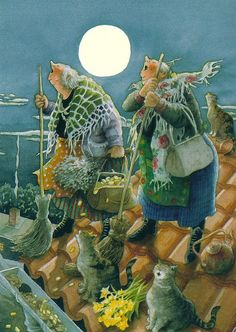 Comics - Inge Look, Grannies Howling at the Moon, Autographed by 9teen87's Postcards, via Flickr