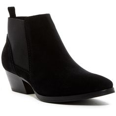 Aquatalia by Marvin K Fionna Crosta Bootie ($200) ❤ liked on Polyvore featuring shoes, boots, ankle booties, ankle boots, black, short boots, black leather booties, faux leather booties, leather ankle boots and leather booties