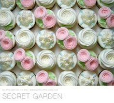 Secret Garden cupcakes