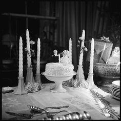 Walker Evans (American, 1903–1975). [3 Views of Wedding Cake on Table], 1960s. The Metropolitan Museum of Art, New York. Walker Evans Archive, 1994 (1994.252.221.1-3)