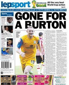 Lancashire Evening Post back page 01/07/14