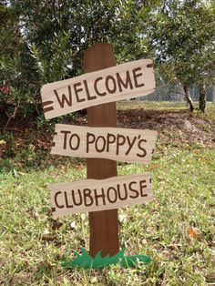Mickey Mouse Clubhouse Sign- Mickey's Clubhouse Party Prop