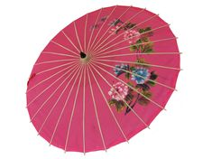 Vintage Japanese Bamboo Parasol Hand Painted, Japanese Umbrella, 1960s Chinese Parasol Umbrella, Hand-painted Parasol, bamboo umbrella Light Fixture Covers, Japanese Bamboo, Wooden Hand, Vintage Japanese, Vibrant Colors, Vintage Items, Hand Painted, Antiques, Artwork
