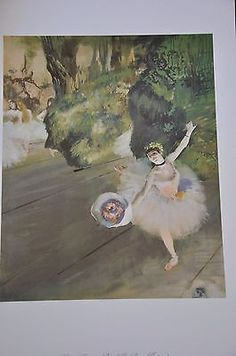 "Dancer Taking a Bow The Prima Ballerina by Edgar Degas Fine Art Print 17"" x 11"""