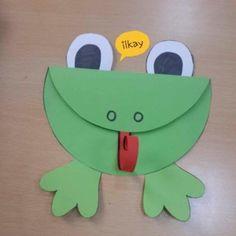 Frosch Craft Idea for Kids Frog Crafts Preschool, Kids Crafts, Animal Crafts For Kids, Spring Crafts For Kids, Summer Crafts, Toddler Crafts, Hobbies And Crafts, Art For Kids, Art Children