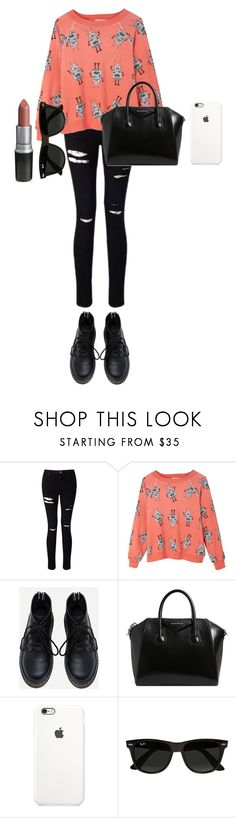 """""""I'll cry until"""" by mcsalvetti ❤ liked on Polyvore featuring Miss Selfridge, Wildfox, Givenchy and Ray-Ban"""