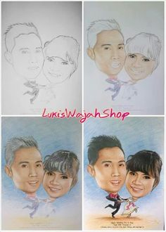 Drawing and Caricature wedding tutorial by LukisWajahShop