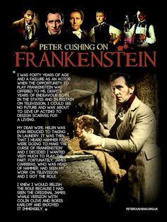 PETER CUSHING 'FRANKENSTEIN'  petercushing.org.uk
