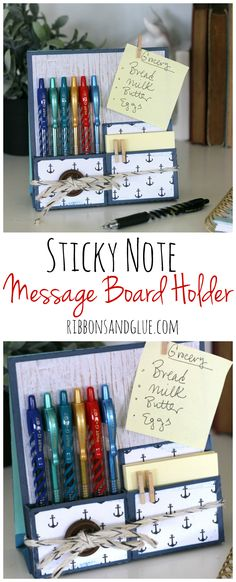 DIY Message Board Filled With Pilot G2 Pens And Sticky Notes To Help Stay  Organized.