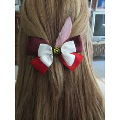 Captain Hook Hair Bow Peter Pan Disney Inspired ❤ liked on Polyvore featuring accessories, hair accessories, hair bows and bow hair accessories