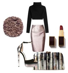 """Untitled #237"" by mrssofia on Polyvore featuring Valentino, Serpui, Jimmy Choo and Illamasqua"