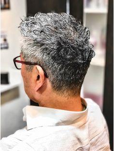 Mens Perm, Men's Hairstyle, Hair Health, Grey Hair, Silver Hair, Barber, Stylists, Groom, Hair Cuts