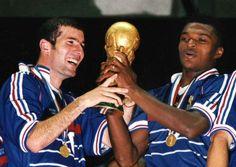 coupe du monde 1998 finale France bresil 3-0 Zinedine Zidane et marcel desailly