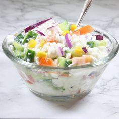 Kesosallad3 Swedish Recipes, Recipe For Mom, Vegetable Salad, Fruit Salad, Potato Salad, Side Dishes, Vegetarian Recipes, Food And Drink, Diet