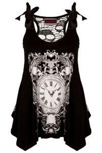Jawbreaker - Steampunk Clock Gothic Top - Black