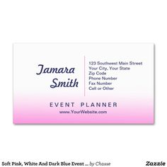 Professional 39event planner39 business card template for Sample event planner business cards