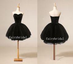 little black dresses, black prom dresses, tulle prom dresses, prom dresses 2014, dresses for prom, cheap prom dress, short prom dress FB005 on Etsy, $134.84 AUD
