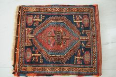 Aktuell in den Schahsavan, Iran around Frontpiece of a saddle bag Iran, Saddle Bags, Bohemian Rug, Rugs, Decor, Farmhouse Rugs, Molle Pouches, Decorating, Dekoration