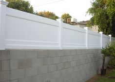 Southland Vinyl block wall extensions 310-978-9800 Perfect solution to the privacy issue in the backyard. :)