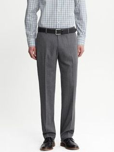 Tailored slim grey wool trouser on shopstyle.com