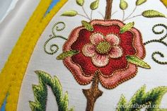 Mission Rose Embroidery Project in Silk & Gold - many great tutorials by Mary Corbet