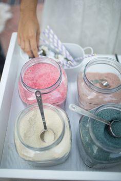 Bon Puf organic cotton candy cart for weddings | Retro Pastel Inspired Shoot | Lovelyfest Event Design