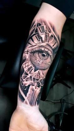 Tattoo Fonts, Tattoo Quotes, Badass Sleeve Tattoos, Tattoo Videos, Sun Tattoos, Custom Tattoo, Forearm Tattoo Men, Chest Tattoo, Shoulder Tattoo