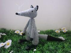 Loup crochet trés trés fin, P'tit bêta, 14 cm, ma création, trés original
