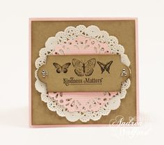 Kindness Matters Card & Winner of the Hearts A Flutter Printer's Tray Tutorial