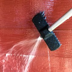 A siding brush with water hose attachment can make quick work of cleaning aluminium siding! Garden Trowel, Garden Tools, Outside Paint Colors, How To Clean Aluminum, Water Hose, Small Gardens, Outdoor Projects, Just Giving, House Painting