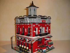 Lego Custom Modular Building House Fire Department 10182 10185 10197 | eBay