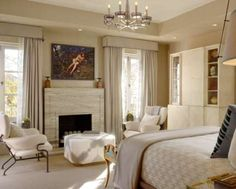 serene master bedroom in the 2010 Elle Décor Showcase House...design by Jeffers Design Group.