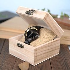 Women's Elegant Simplistic Wooden Watch With Wood Gift Box - Pine Wood,Black Wood For Women in Wood Gift Case wood black new watch womens for her ladies  Mom mum style internet unique products shops fashion band awesome accessories gift ideas beautiful girls outfit boxes pictures gifts casual For sale buy online Shopping womens Websites AuhaShop.com