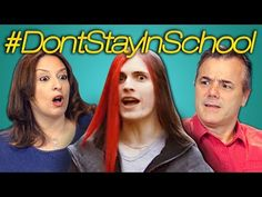 PARENTS REACT TO DON'T STAY IN SCHOOL - YouTube